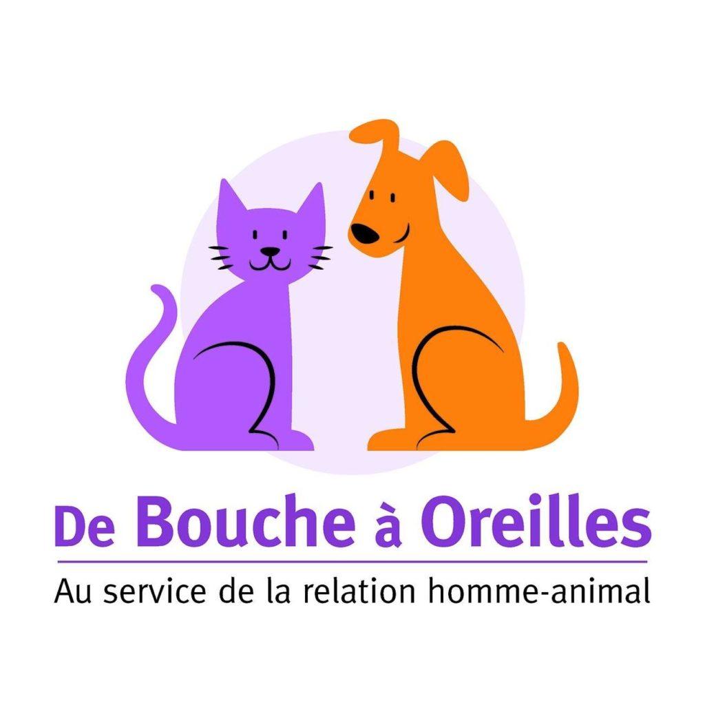 Logo De Bouche à Oreilles Sandrine Debailleux comportementaliste chiens/chats