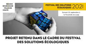 Baniere Festival solutions écologiques Pyramide du Loup